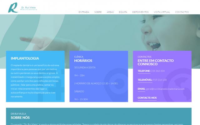 Apresentação do website Dr. Rui Vilela made by Webexperts